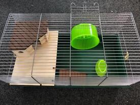 Hamster rat or mouse cage and wheel etc