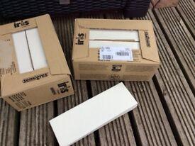 White rectangular ceramic tiles - brand new still in box.