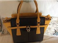 Handbag, mustard yellow