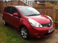 Nissan note 1.5 DCI, N-tech, 2010 reg, metallic red