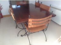 John Lewis dining room table with 6 chairs