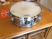 Vintage Gretsch snare drum , chrome over brass, early 80s.