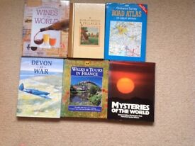6 books of various titles