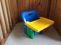 Infant booster seat for feeding
