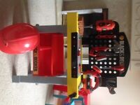 Boys toy black and decker toolstation with sound and accessories