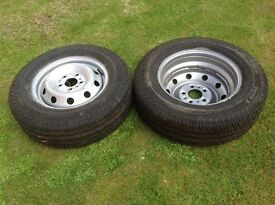Brand new wheels with tyres for sale 205/75 x 16