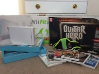Nintendo Wii, Wii Fit Plus, Guitar Hero 5, Zumba + 6 Wii Games(inc Green Day & Beatles Rockband etc)