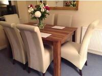 Dinning room table and 6 chairs Laura Ashley
