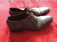 Dark Brown Bronx Men's Leather Shoe Size 8 - Brand New