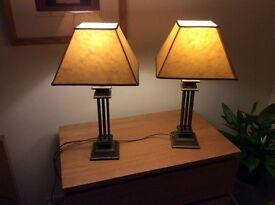 Table lamps in antique brass Finnish