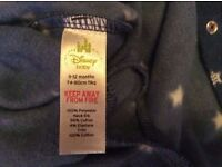 Official Disney baby sleep and play suit 9-12 months