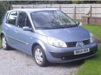 scenic diesel six speed 120 bhp 54 plate 12 months mot with no advisories