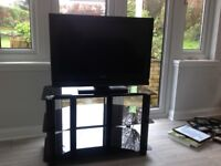 Sony Bravia 32inch LCD TV and Glass Unit