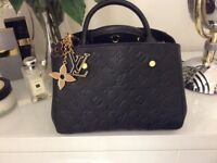 Louise Vuitton Montaigne BB Handbag with free LV Charm