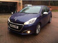 2015 65 Peugeot 208 4 5 door hatchback new shape,1.2 petrol,only 9900 miles,new shape