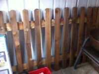 "Picket Fence 113"" long, 42"" high"