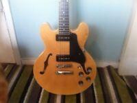 Epiphone semi hollow guitar