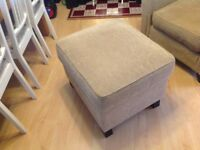 Beautiful armchair and matching storage footstool