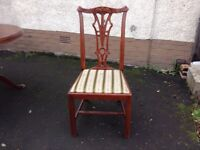ROSEWOOD TABLE AND 4 CHAIRS