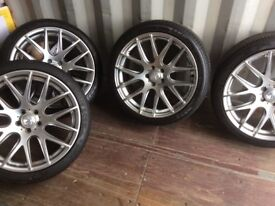 "4 x Zito 19"" Alloy wheels, excellent condition will fit Jaguar, Land Rover, Volvo, Ford, Peugeot"