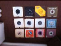LP's & single vinyls & cassettes