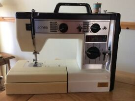 Jones electric sewing machine. Full working order, regularly serviced. Several stitches.