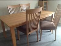 Dining Table & 4 Chairs and matching Sideboard