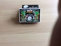 Dunlop 65 vintage wrapped golf balls, special Christmas boxed pack of 6