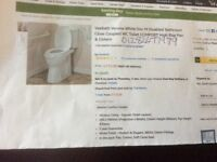 Vebath verona White disabled bathroom close coupled we toilet comfort high rise pan and cistern.