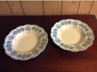 Pretty vintage soup bowls x2