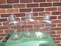 3 4Ltr glass flagons (Never used)