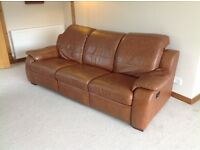 3 Seater Reclining Leathe Sofa