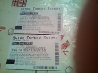 Alton towers tickets .