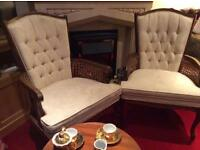 Beautiful Large Antique French Style Arm Chairs £45 each
