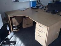 Office desk with draws