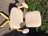 Swivel desk chair,comfortable with arm rests and in excellent condition. Absolute bargain for £25.00