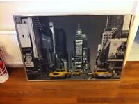 Large Contemporary Picture of Times Square in New York - 140 x 100cms