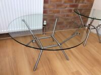 M & S Circular Clear Glass Coffee Table, New / Boxed