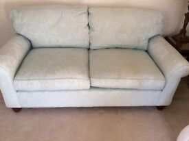 2 seater Laura Ashley sofa in a duck egg fabric