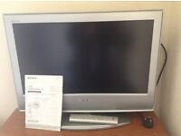 Sony Bravia 26 inch TV with remote control and manual. Perfect condition.