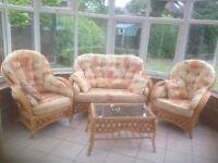 Cane Furniture Set for Conservatory or Garden Room