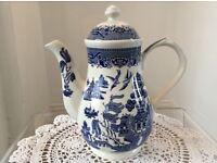 Churchill Willow Pattern large Coffee/Tea Pot.