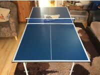 Foldable half size TABLE TENNIS TABLE for sale