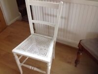 WHITE PAINTED BEDROOM CHAIR