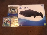 PlayStation 4 brand new unopened 500g with extra wireless controller and 2 new games all unopened