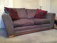 Two sofas (2 & 3 seat) charcoal grey DFS