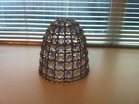 Retro Style Clear Jewel Ceiling Pendant Light Lamp Shade ( possible Vintage)
