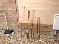 Four Vintage fishing rods