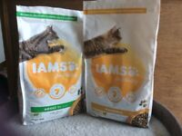 2 bags of Iams for Vitality cat food for just £6 partly used bags Chicken and Hairball, used for sale  Saffron Walden, Essex