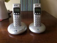BT Cordless Telephones x2 with Answering Machine